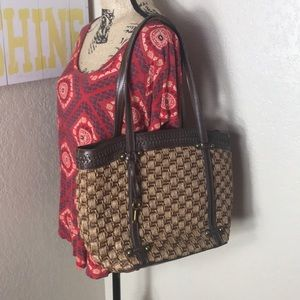 Fossil Large Wicker Shoulder Bag